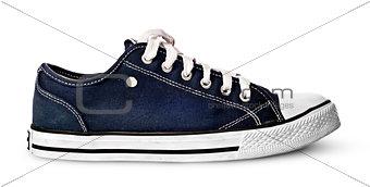 Single blue sport shoe