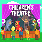 Amateur Children Theatre Performance Of A Red Hood Fairy Tale