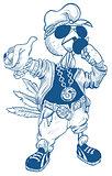Brutal cock rapper. Blue Rooster symbol 2017