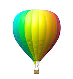 Hot air colorful balloon isolated