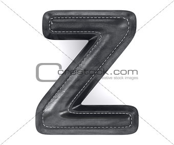 Black leather skin texture capital letter Z