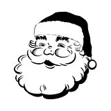 Santa Claus smiling - Retro Clip Art