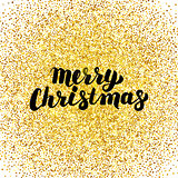 Merry Christmas Gold Greeting Card