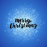 Merry Christmas Blue Greeting Card