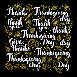 Thanksgiving Day Calligraphy Design