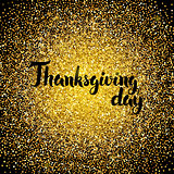 Thanksgiving Day Gold Design