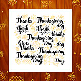 Thanksgiving Day Greeting Lettering