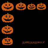hand drawn jack-o-lantern vector background