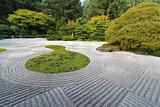 Japanese Flat Garden with Checkerboard Pattern