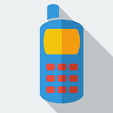 Modern flat design concept icon smart phone. Vector illustration