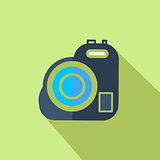 Modern flat design concept icon Video camera. Vector illustratio
