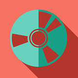 Modern flat design concept icon. CD or DVD computer disk diskett