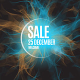 Sale abstract vector background poster