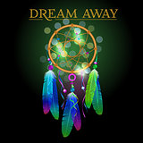 Vector illustration of dream catcher, native american poster