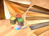New oak parquet and paints