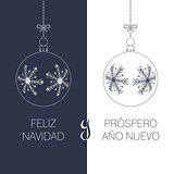 spanish christmas and new year greeting card