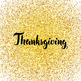Thanksgiving Gold Greeting Card