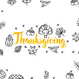 Thanksgiving Gold Greeting Postcard