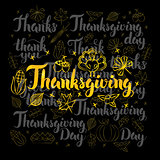 Thanksgiving Lettering Black Set