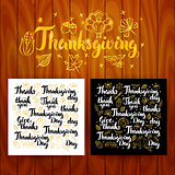 Thanksgiving Lettering Postcards