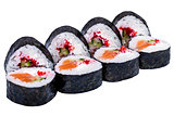 Sushi rolls isolated on white