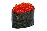 Caviar Sushi nori isolated on white background