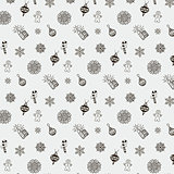 Vector Christmas Doodles Seamless Background Pattern