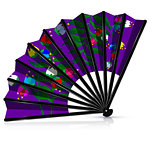 purple fan with blossom