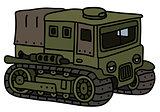 Funny vintage military transporter