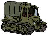 Funny vintage artillery tractor