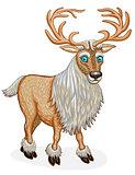 Standing Reindeer animal cartoon character.