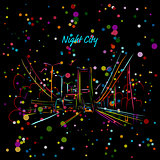 Night city road for your design