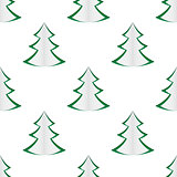 background of green christmas trees