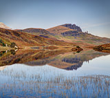 The Storr reflection in Loch Leathan