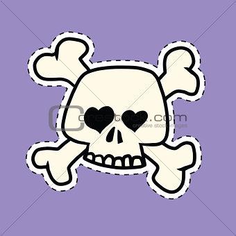 Skull and bones heart of the orbit