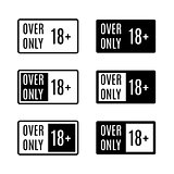 Set icons over only, vector illustration.