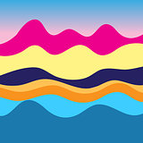 Colorful graphic landscape