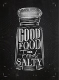 Poster salty food chalk