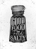 Poster salty food