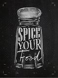 Poster pepper castor spice chalk