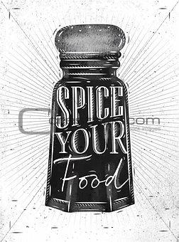 Poster pepper castor spice