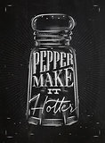 Poster pepper castor chalk