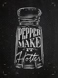 Poster pepper castor chalk