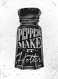 Poster pepper castor