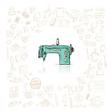 Sewing set, sketch for your design