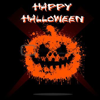 Abstract pumpkin Halloween
