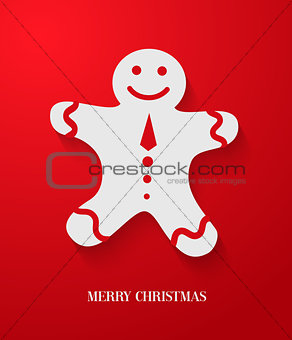 Christmas card with gingerbread.