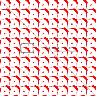 Tile red and white vector pattern