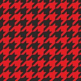 Houndstooth vector seamless black and red pattern