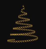 Christmas tree from light stars